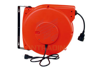 Oil Proof Heavy Duty Retractable Electric Cable Reels Length 10m - 15m Cable